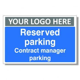 Reserved Parking Contract Manager Parking Custom Logo Sign
