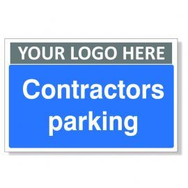 Contractors Parking Custom Logo Sign