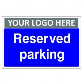 Reserved Parking Custom Logo Sign