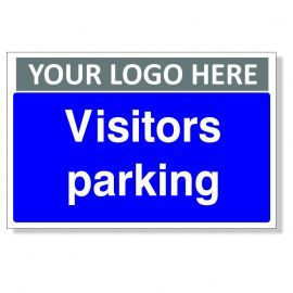 Visitors Parking Custom Logo Sign