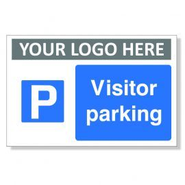 Visitor Parking Custom Logo Sign