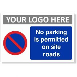 No Parking Is Permitted On Site Roads Sign