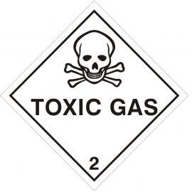 Toxic Gas Sign Sticker 100Wmm x 100Hmm