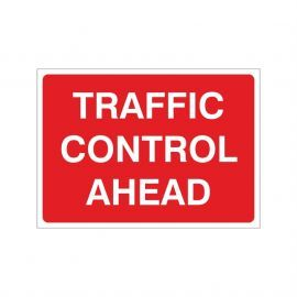 Traffic Control Ahead Temporary Sign - 1050W x 750Hmm