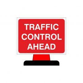 Traffic Control Ahead Aluminium Composite Cone Sign