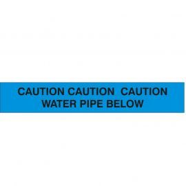 Caution Water Pipe Below