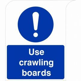 Curve Top Use Crawling Boards Sign