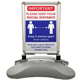Important Please Keep Your Social Distance Sign