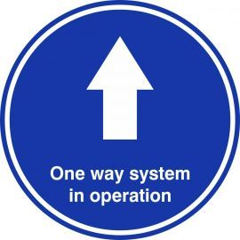 One Way System In Operation Floor Graphic Sticker