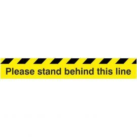 Please Stand Behind This Line Floor Sticker