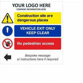 Vehicle Exit Only Keep Clear Multi Message Safety Board