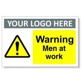 Warning Men At Work Custom Sign