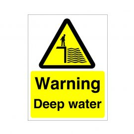 Warning Deep Water Sign