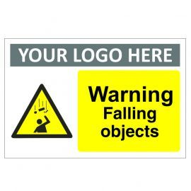 Warning Falling Objects Custom Logo Warning Sign