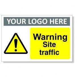 Warning Site Traffic Custom Logo Warning Sign