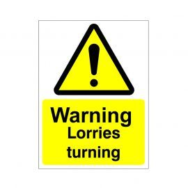 Warning Lorries Turning Sign