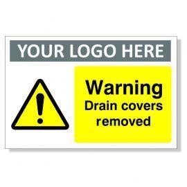 Warning Drain Covers Custom Logo Warning Sign