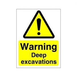 Warning Deep Excavations Sign