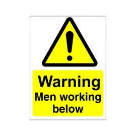 Warning Men Working Below Sign