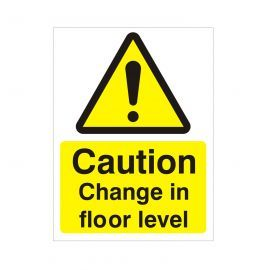 Caution Change In Floor Level Sign
