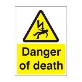 Danger Of Death Electricity Warning Sign