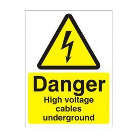 Danger High Voltage Cables Underground Safety Sign