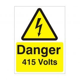 Danger 415 Volts Safety Sign