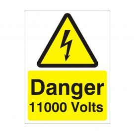 Danger 11000 Volts Safety Sign