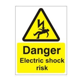 Danger Electric Shock Risk Safety Sign