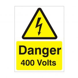 Danger 400 Volts Safety Sign