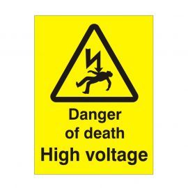 Danger Of Death High Voltage Safety Sign