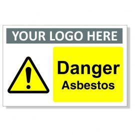 Danger Asbestos Custom Logo Warning Sign