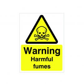 Warning Harmful Fumes Sign