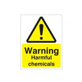 Warning Harmful Chemicals Sign