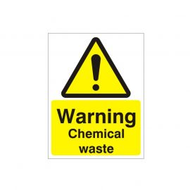 Warning Chemical Waste Sign