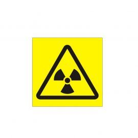 Radiation Symbol Yellow Background Sign