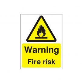Warning Fire Risk Sign