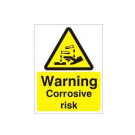 Warning Corrosive Risk Sign