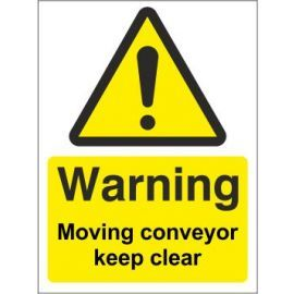 Warning Moving Conveyor Sign
