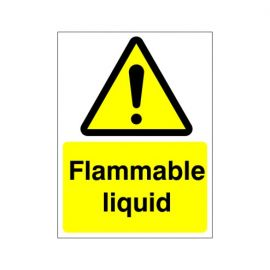 Warning Flammable Liquid Sign