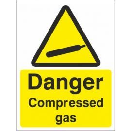 Danger Compressed Gas Sign (Custom)