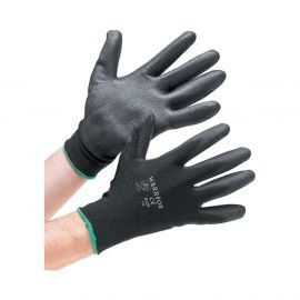 Warrior Black PU Palm Gloves