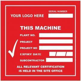 Custom Plant Machine Sticker