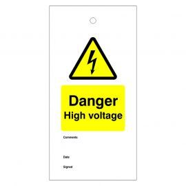 Danger High Voltage Warning Tags