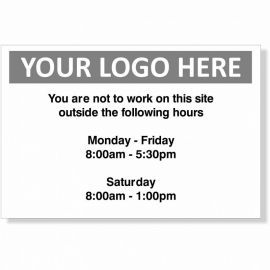 You Are Not To Work On This Site Custom Logo Sign