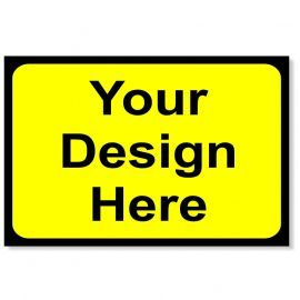Your Design Here - Yellow Traffic Sign - 1050Wmm x 750Hmm