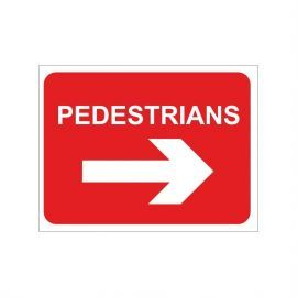 Pedestrians Keep Right Temporary Traffic Sign
