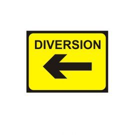 Diversion Left Arrow - Traffic Sign - 1050W mm x 750Hmm