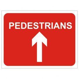 Pedestrians (Arrow Up) Temporary Traffic Sign