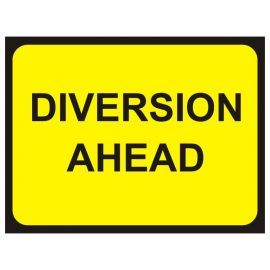 Diversion Ahead Temporary Traffic Sign